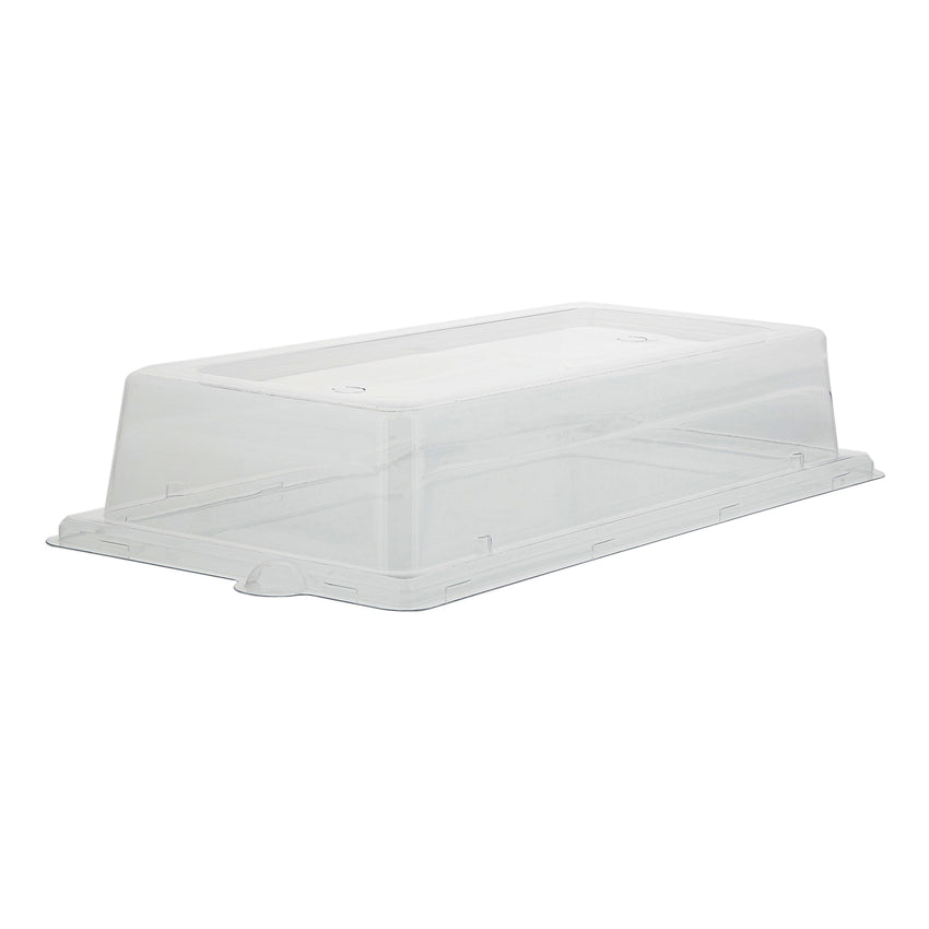 "PET Lid for 10 x 5"" Rectangle Plates, Case of 500"