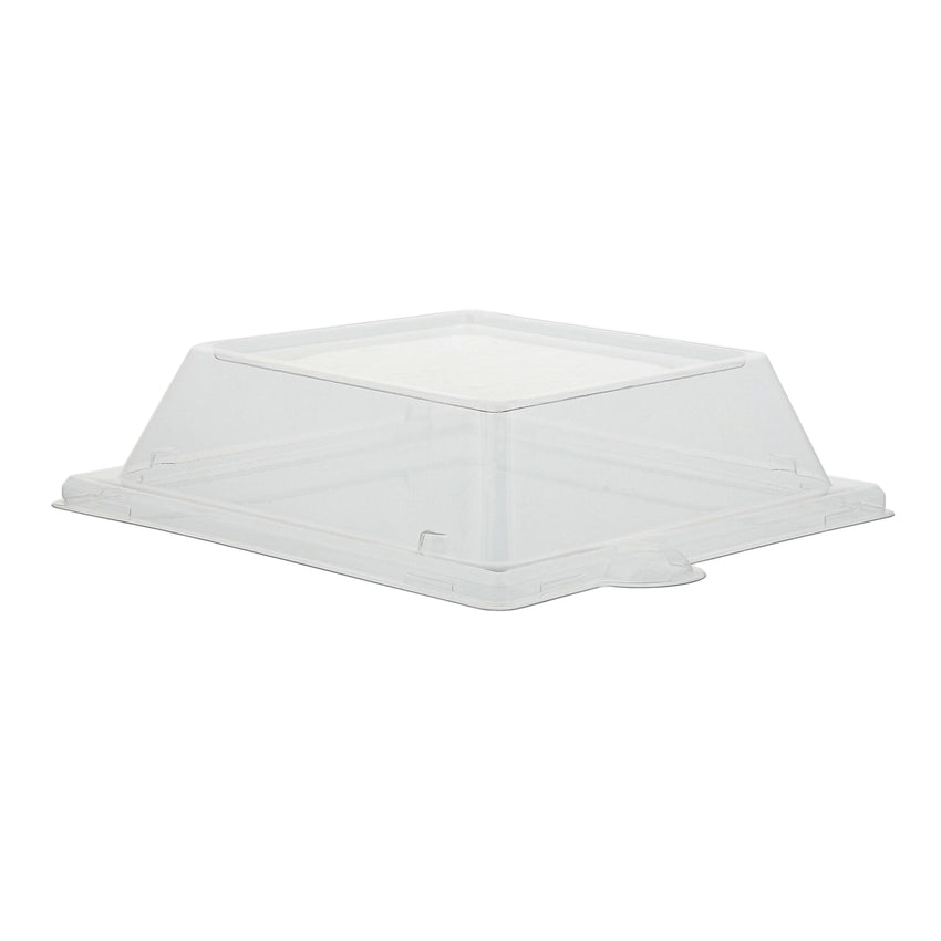 "PET Lid for 6"" Square Plates, Case of 500"