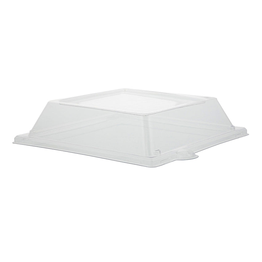 "PET Lid for 8"" Square Plates, Case of 500"