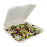 "7.875 x 8 x 2.5"" Medium Molded Fiber Hinged Lid Containers, Case of 200"