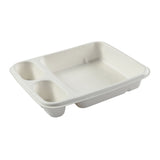 "7"" x 9"" - 3 Compartment Nacho Tray"