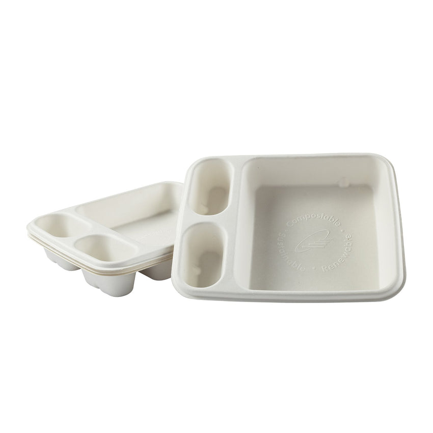 "7"" x 9"" - 3 Compartment Nacho Trays"
