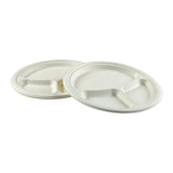 "10"" - 3 Section Round Heavy Molded Fiber Plates"