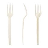 "7"" Plant Starch Forks, Case of 1,000"