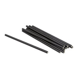 "7.75"" Giant Unwrapped Black Paper Straws"