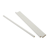 "10.25"" Giant Unwrapped White Paper Straws"