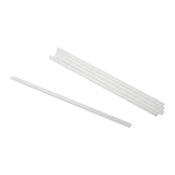 "7.75"" Clear Unwrapped Jumbo PLA Straws, Case of 6,000"