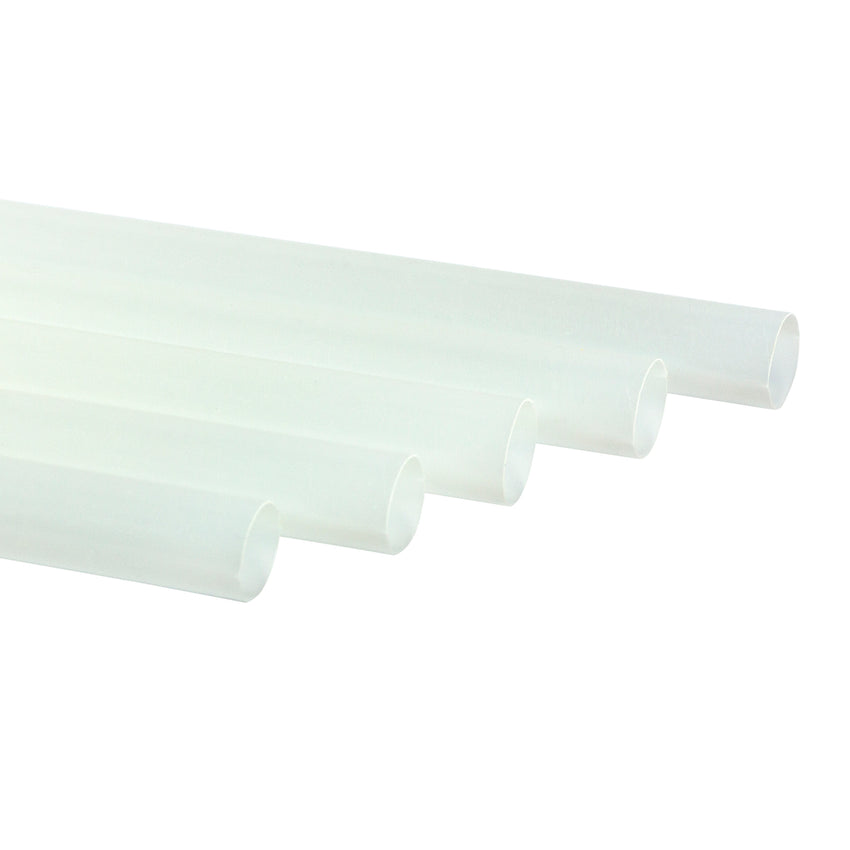 "7.75"" Clear Unwrapped Jumbo PLA Straws"