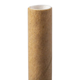 "7.75"" Jumbo Unwrapped Kraft Paper Straw - Close Up"