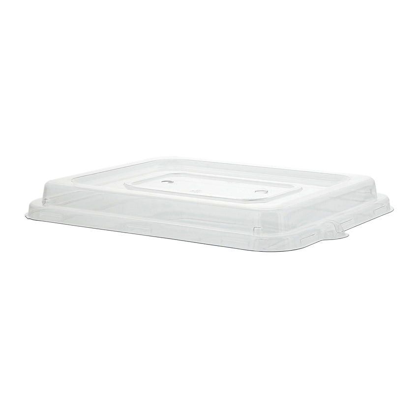 "7 x 9"" PET Lid for Tan Tubs, Case of 200"