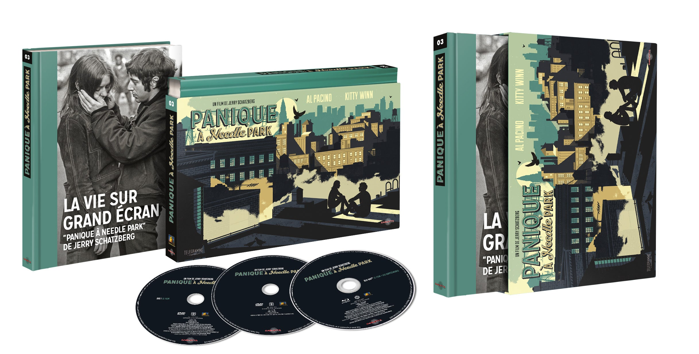 Panique à Needle Park - Coffret Ultra Collector 03 - Blu-ray + DVD + Livre - CARLOTTA FILMS - La Boutique