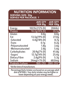 Go Natural Hiprotein Double Chocolate Slab (50g)