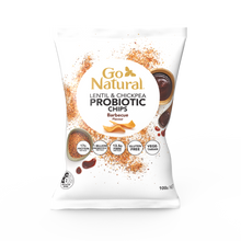 Load image into Gallery viewer, Go Natural Barbecue Probiotic Chips (100g)