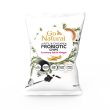 Load image into Gallery viewer, Go Natural Rosemary Salt & Vinegar Probiotic Chips (100g)