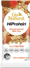 Load image into Gallery viewer, Go Natural Hiprotein Almond Apricot Milk Chocolate Bar (60g)