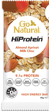 Go Natural Hiprotein Almond Apricot Milk Chocolate Bar (60g)