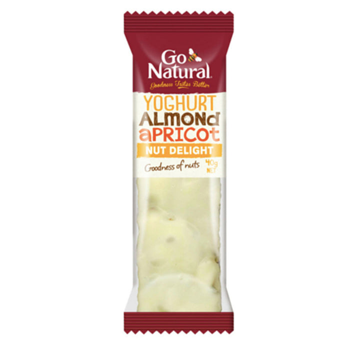 Go Natural Yoghurt Almond and Apricot Snack Bar 40g