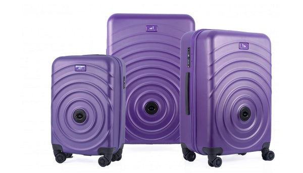 Set de 3 valises qui s'accrochent - Mauve My Little Train