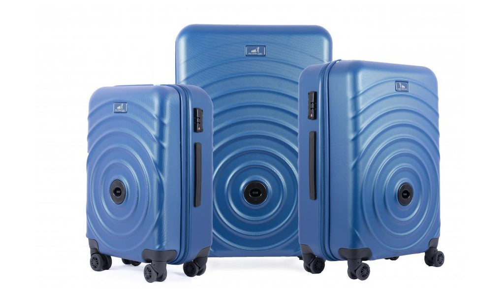 Set de 3 valises qui s'accrochent - Bleu Azur My Little Train