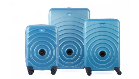 Set de 3 valises qui s'accrochent - Turquoise My Little Train