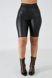 Leatherette Shorts - Pinq boutique