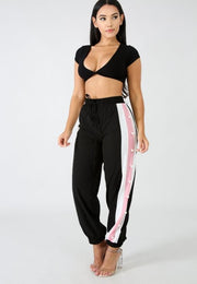 On Track Pearl Windbreaker Joggers - Pinq boutique