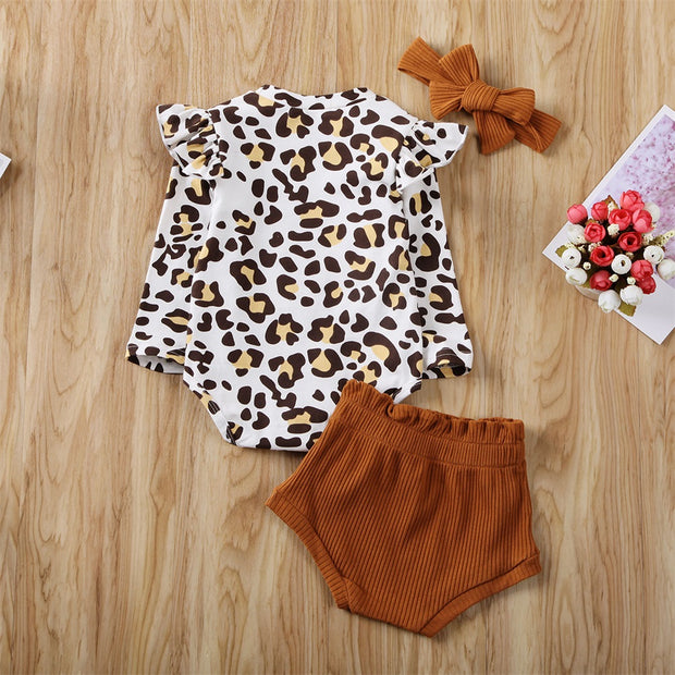 Leopard Print Infant 3pc - Pinq boutique