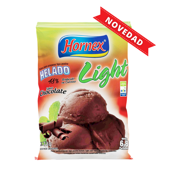 Helado sabor Chocolate Light Hornex de 72g