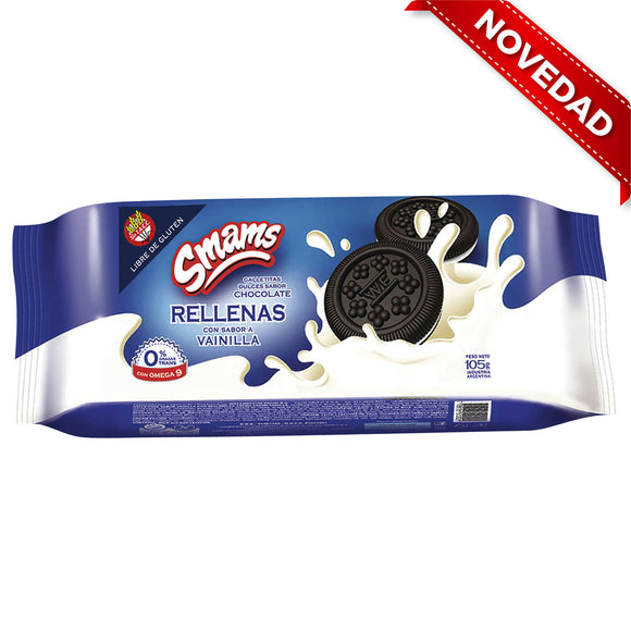Galletas de chocolate rellenas SMAMS - 105Grs