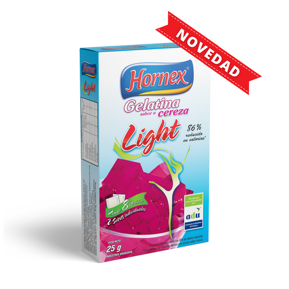Gelatina light sabor Cereza de 25g Hornex