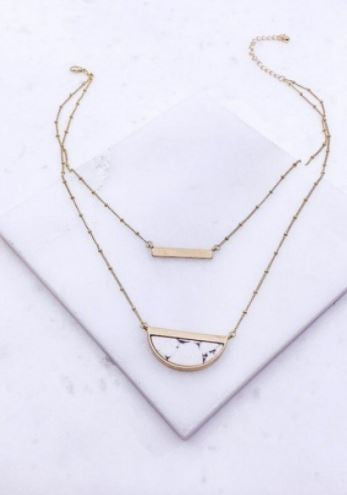 Lana white bar necklace