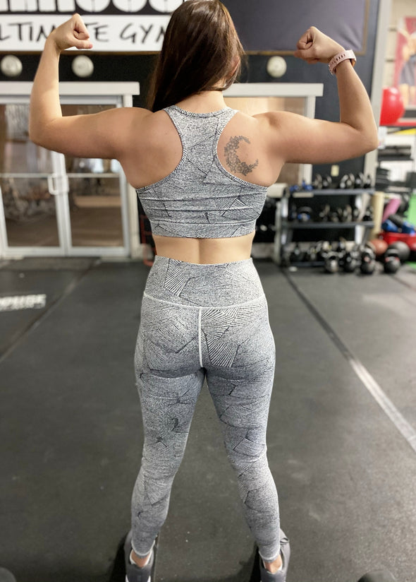 Race You There Racerback Sports Bra