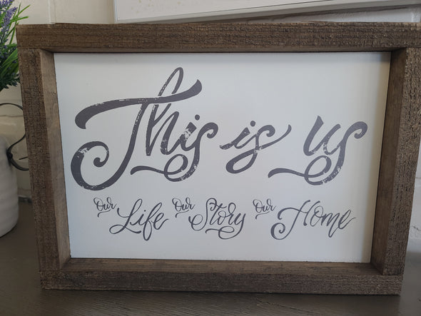 This is us- wood sign