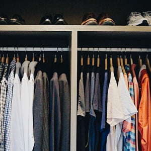 closet organisation: for him and her