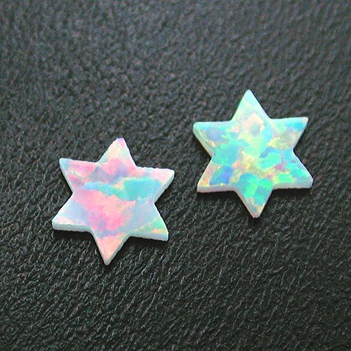 White 6 Point Star Opals by Profound Glass