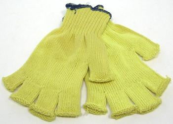 Fingerless Yellow Kevlar Gloves