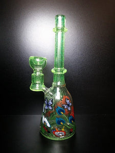 White & Green Glass Alice by Grimm