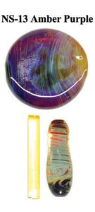 Amber/Purple Northstar Glassworks
