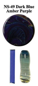 Dark Blue Amber Purple by Northstar Glassworks