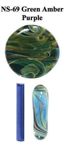 Green Amber/Purple by Northstar Glassworks