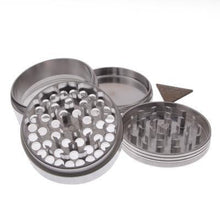 Load image into Gallery viewer, Large Polished Aluminum 4 Piece Space Case Grinder