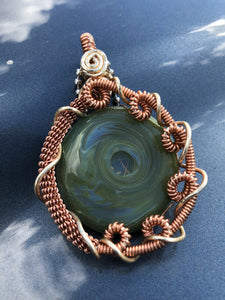Copper Wrapped Pendant by Struve