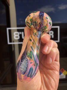 Fumed Dichro Inside Out Spoon by J&C Glass