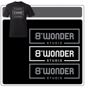 Black Triple Logo Shirt by 8th Wonder Studio