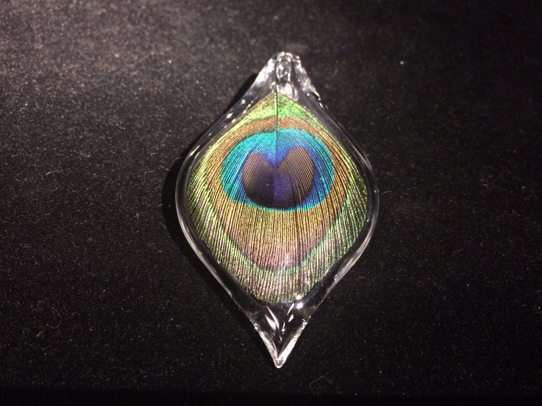 Peacock Pendant by Annie Woods