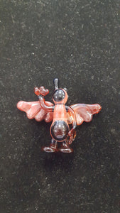 Winged Glasstronaut Pendant by Hensley