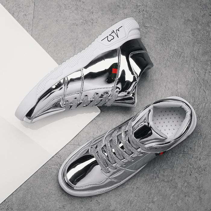 Sliver  reflective casual shoes
