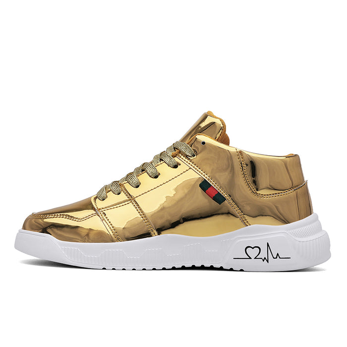 Gold  reflective casual shoes