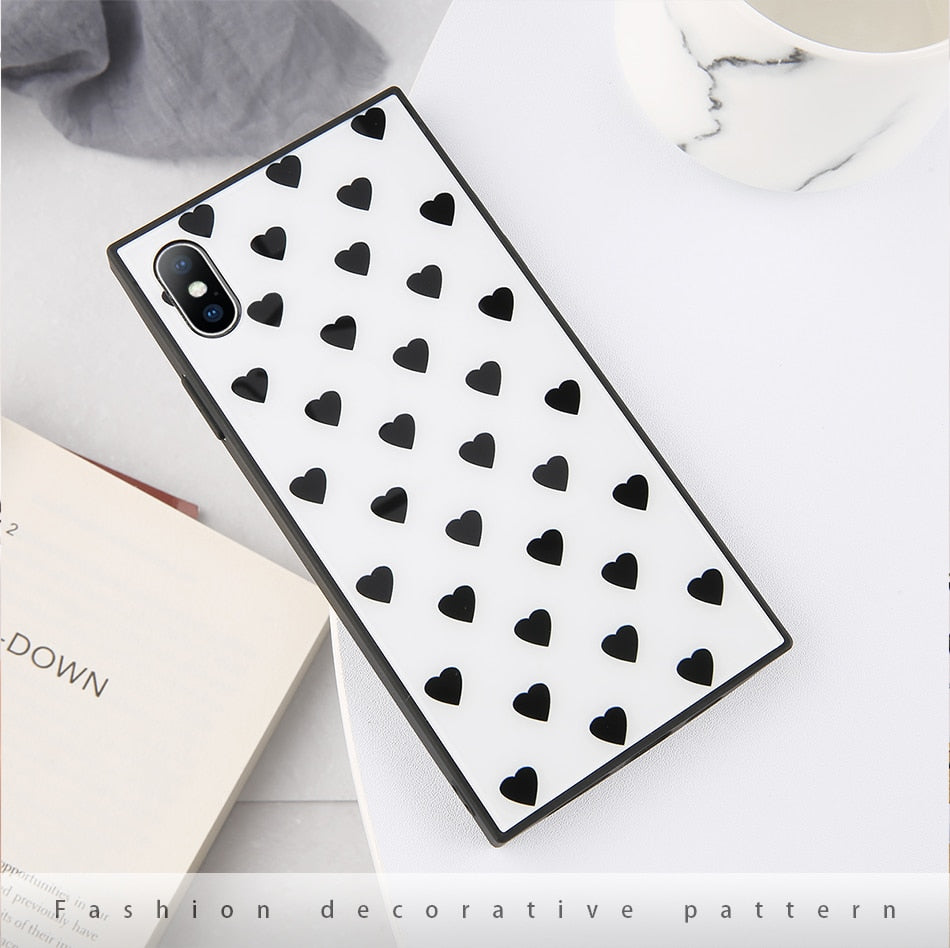 Square Glass Phone wt Case - TlbatkShop | طلباتك شوب ® Official Site