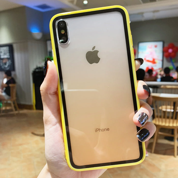 Transparent Acrylic YELLOW  Case - TlbatkShop | طلباتك شوب ® Official Site